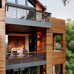 Love this tree top home. It's High design meets LEED-certified sustainability which is really cool in my book. And instead of going out, it goes up allowing for a smaller footprint. Found this house and it's plans on the Sunset website.