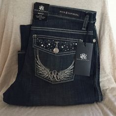FLASH SALE NWT- Size 14L, 33in inseam. Boot Cut.     Excludes 10% off sale Rock & Republic Jeans Boot Cut