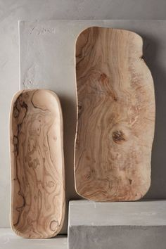 Lost & Found-Anthropologie olivewood serving trays | Remodelista