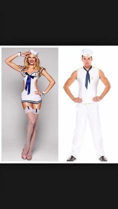 His and hers Sailor costumes