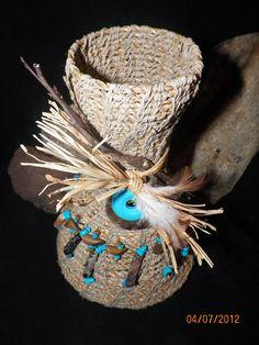 A seagrass basket I made.