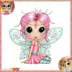 Sherri Baldy My Besties Rubber Stamp - Wee Winged One Fairy