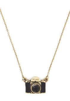 What Are You Waiting Photo Necklace. Capture picture-perfect style by donning this darling camera pendant! #black #modcloth