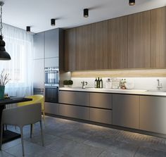 Outstanding living kitchen room are readily available on our site. Read more and you wont be sorry you did. Modern Kitchen Interiors, Luxury Kitchen Design, Kitchen Room Design, Modern Kitchen Cabinets, Kitchen Cabinet Design, Living Room Kitchen, Home Decor Kitchen, Interior Design Kitchen, New Kitchen