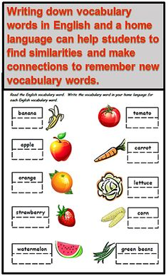 ESL Teaching Tip of the Week: Help students to find cognates or similar words between English and their home language. This helps promote memory of English vocabulary and an understanding of language rules. Ideas and resources from Raki's Rad Resources English Vocabulary Words, English Language Learners, English Grammar, Ell Strategies, Cognates, Daycare Forms, Vocabulary Building, Teacher Tools, Teaching Materials