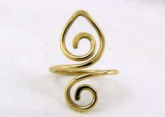 Brass Lotus Toe Ring Lotus Ring Upper Finger Ring by Cuprum29, $14.00 #lehane #group2020 #handmade