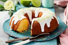 Cake in a blitz! This will hit the sweet spot Lime And Coconut Cake Recipe, Coconut Frosting, Coconut Cakes, Lemon Cakes, No Bake Desserts, Just Desserts, Eat Cake, Food Processor Recipes, Cake Recipes