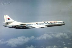 Air Inter Aérospatiale SE-210 Super Caravelle 12 F-BTOA, in flight, circa 1970s. (Photo: Air Inter / Aérospatiale)