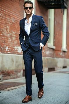 navy blue outfits for men