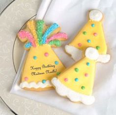 Hats Off To You Party Hat Cookies