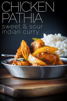 The usual habitat for a chicken pathia seems to be a British curry house, I think this fiery sweet and sour number with Gujarati leanings should be shown a lot more love. Tamarind adds the sour to this amazing curry dish. Cooked Chicken Recipes, Spicy Recipes, Curry Recipes, Indian Food Recipes, Asian Recipes, Beef Recipes, Cooking Recipes, Healthy Recipes, Ethnic Recipes