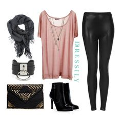 The next time you want to channel a rock chic look, try incorporating pink pieces into your outfit for that fun and unexpected twist! The color contrast definitely makes the look more interesting and different from the usual rocker-inspired looks. www.dressi.ly