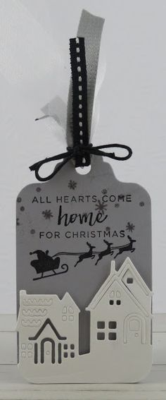 Corporated: 25 Days of Christmas Tags 2018 - Day 10 + Loll's 12 Tags of Christmas 25 Days Of Christmas, Stampin Up Christmas, Christmas Tag, Christmas Ideas, Christmas Gift Wrapping, Decorative Bells, Stamping, Card Ideas, Craft Projects