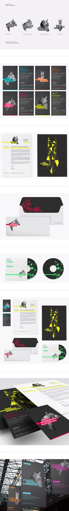 Dubai Film Festival Rebrand Pitch by Ryan Atkinson, via Behance
