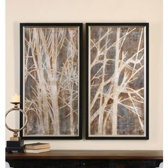 Uttermost Twigs Hand Painted Art - Set of 2 - Wall Art at Hayneedle