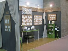 Flooring and wall display ideas for an affordable trade show booth.