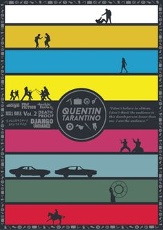 fuckyeahmovieposters:  Tarantino Filmography Poster by John Conlon