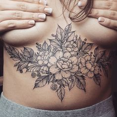 floral tattoo art -`pinterest ❀ abkatherine´-