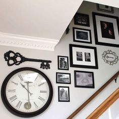stairway gallery wall and entryway makeover, foyer, repurposing upcycling, stairs, wall decor