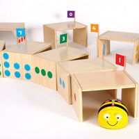 Block Area Robotics with Bee-Bot® Tunnels & Child-friendly Bee-Bot® Robots by TTS (via tts group)
