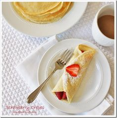 Strawberry Crepes from @- SAND - and Sisal