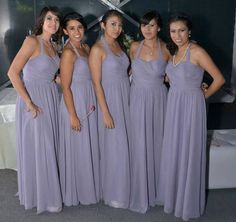 Bridesmaids purple dress <3 my siter, cousins and best friends