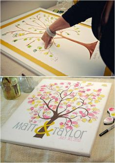A great guestbook idea.  OR even just for a keepsake :)