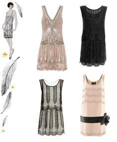 '20s styled dresses! Drop waist- ok!