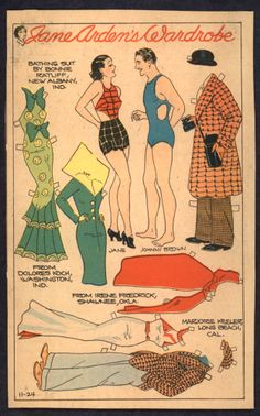 11-24-35 Jane Arden paper doll with Johnny Brown and Jane / eBay
