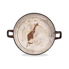 White-ground cup, attributed to the Pistoxenos Painter Greek, around 460 BC Made in Athens, Greece; found at Kamiros, Rhodes, Aegean Sea Aphrodite riding on a goose