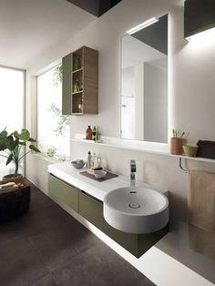 #Scavolini Bathrooms: a colorful #bathroom and a living show