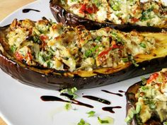 Proud Italian Cook: Stuffed Eggplant with Ricotta, Spinach and Articho | Mandarano Balsamic Glaze and Sauce
