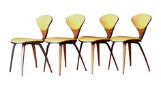 1958 Plycraft Cherner Side Chairs - Set of 4 on Chairish.com