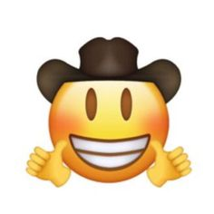 Cowboy thumbs up New Emojis, Funny Emoji, Memes, Winnie The Pooh, Disney Characters, Fictional Characters, Stickers, Smileys, Cute