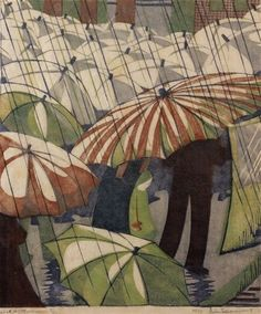 yama-bato:  Wet Afternoon by Ethel Spowers