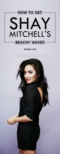 Shay Mitchell's hairstylist reveals his beach wave technique
