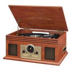 0e22cc70ef09b Amazon.com  Victrola Nostalgic Aviator Wood 8-in-1 Bluetooth Turntable  Entertainment Center