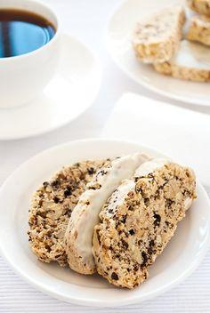 walnut & coffee biscotti with white chocolate from Kitsch in the Kitchen