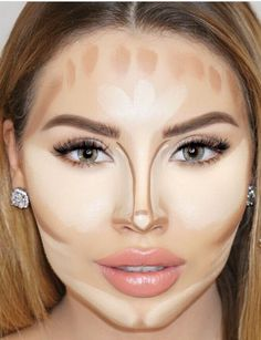 Maquillaje maquillaje contouring, make up y skønhedstip. Nose Contouring, Contour Makeup, Contouring And Highlighting, Skin Makeup, Contour Face, How To Contour Nose, Contouring Guide, Where To Contour, Flawless Face Makeup