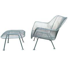 Sculptura Outdoor Lounge Chair + Ottoman by Russell Woodard
