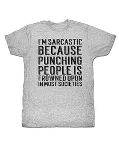 Look at this #zulilyfind! Heather Gray 'I'm Sarcastic Because' Tee - Men & Tall by american classics originals #zulilyfinds