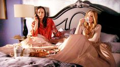 Blair and Serena. Lets stay at a fancy hotel and order room service for breakfast