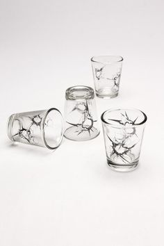 """Shot"" Glasses. Hahaha, nice. Luckily they still hold liquid."