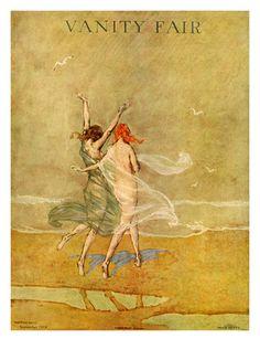 Vanity Fair Cover - September 1918 Poster Print by Warren Davis at the Condé Nast Collection Vanity Fair Magazine, Magazine Art, Magazine Covers, Patrick Nagel, Art Deco, Art Nouveau, Edward Hopper, Vintage Posters, Vintage Art
