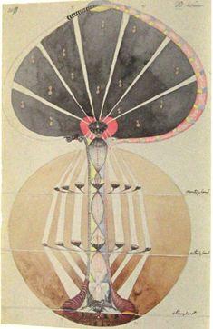 Hilma af Klint - Nr 3. Kunskapens träd, 1913.
