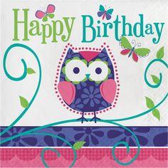 Ply lunch napkins happy birthday owl pal birthdaycase of - Happy birthday images Animal Owls Happy Birthday Owl, Happy Birthday Messages, Happy Birthday Images, Happy Birthday Greetings, Birthday Pictures, Birthday Fun, Birthday Quotes, 1st Birthday Parties, Birthday Design