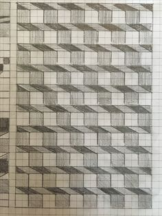 Dominic Joyce Art by DominicJoyceArt Graph Paper Drawings, Graph Paper Art, Doodle Drawings, Easy Drawings, Doodle Art, Blackwork, Bargello Quilts, Geometric Drawing, Art Lessons Elementary