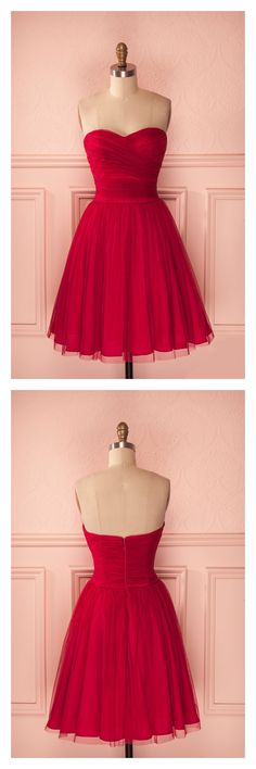 homecoming dresses 2017, sweetheart homecoming dresses, red homecoming dresses, tulle homecoming dresses, short mini homecoming dresses cocktail dresses,party dresses,graduation dresses #SIMIBridal