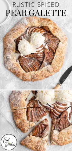 This Rustic Spiced Pear Galette features a spiced pear filling that is full of cinnamon, ginger, and allspice. Once baked, the filling is the perfect . Tart Recipes, Gourmet Recipes, Caramel Pears, Pear Pie, Spiced Pear, Muffins, Sweet Tarts, Recipes, Muffin