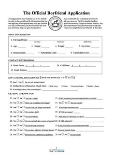 The official boyfriend application